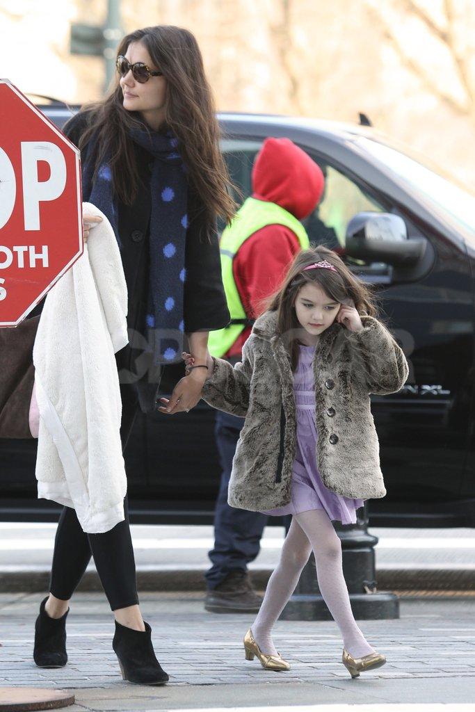 Katie Holmes and Suri Cruise spent the day together.