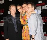 Brad Bird put his arm around his actors, Tom Cruise and Paula Patton.