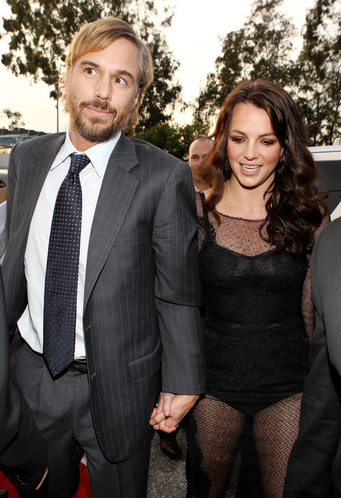 Britney and Jason were hand in hand at the Grammys in January 2010.
