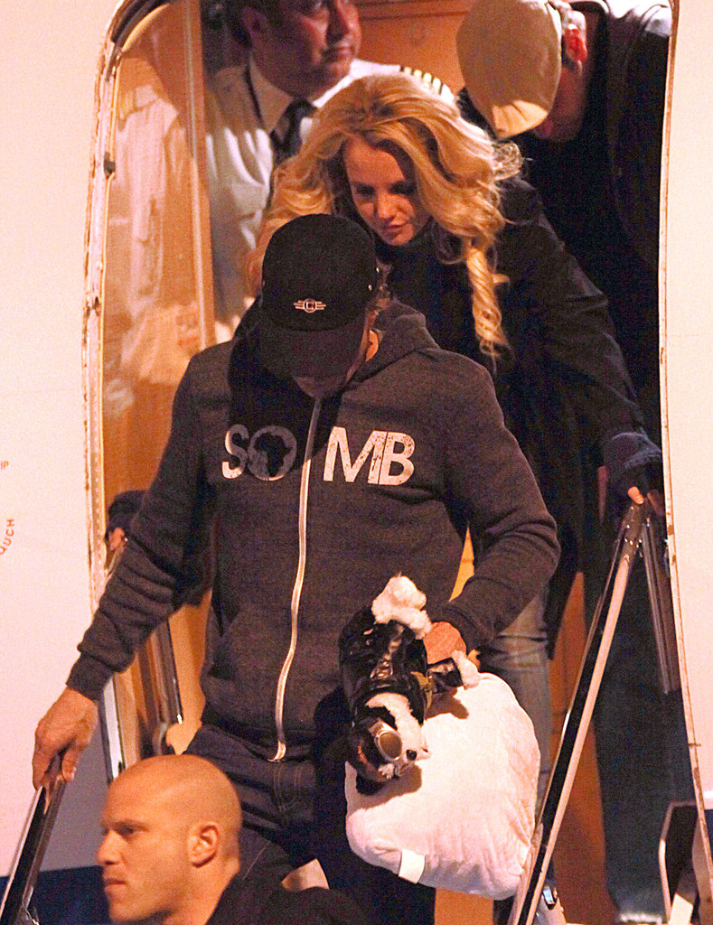 Newly Engaged Britney Spears Touches Down in Las Vegas With Fiancé Jason Trawick