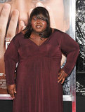 Gabourey Sidibe arrived at NYC's Ziegfeld Theatre.