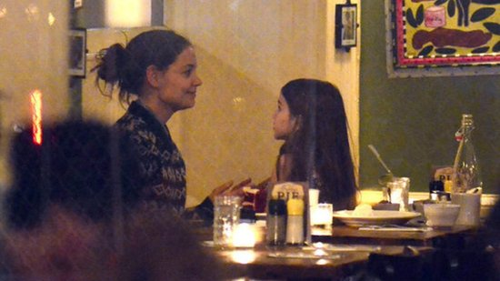 Video: Katie Holmes's Sweet Dinner Date With Suri Cruise
