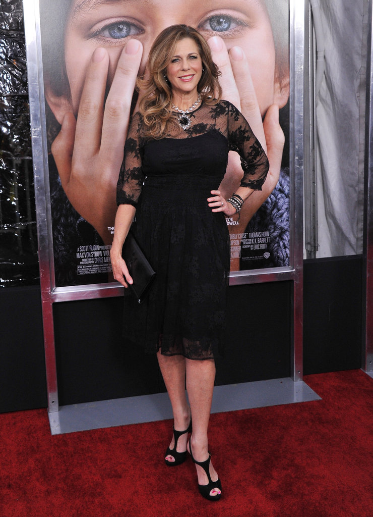 Rita Wilson attended the NYC premiere of Extremely Loud and Incredibly Close.