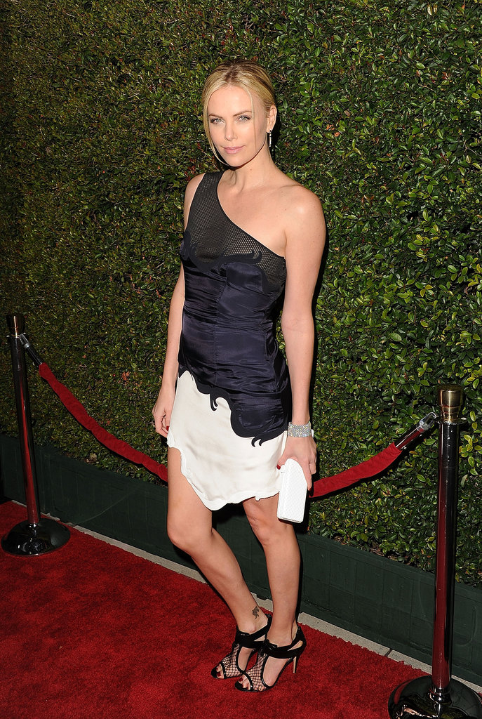 Charlize Theron worked a few poses on the red carpet.