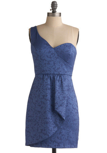 Polished with a sexy twist, we love the asymmetrical cut and ultra-flattering cinched waist.  Modcloth Rising Tides Dress ($50)