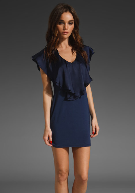 A pretty open neckline that's just begging for a gorgeous statement piece.  Vava by Joy Han Gabrielle Mini ($63)