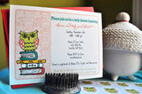 Owl on Books Baby Shower Invitations ($16 For Set of 12)
