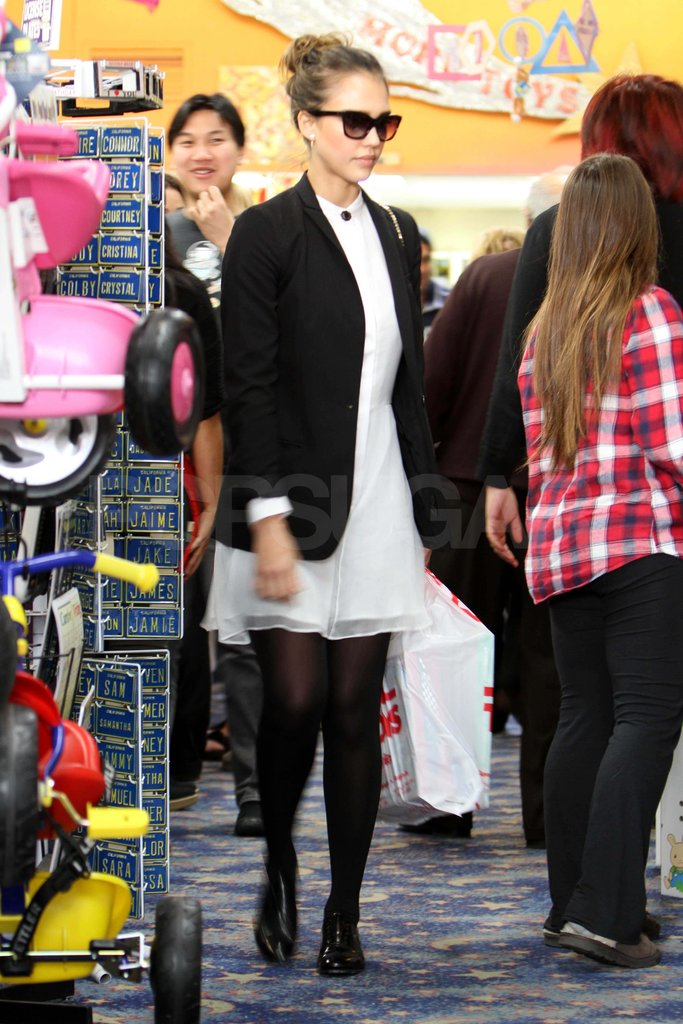 Jessica Alba toy shopping.