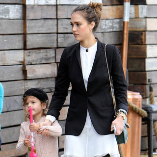 Jessica Alba and Her Family at Dominicks in LA Pictures