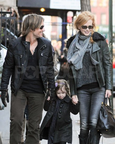 Nicole Kidman and Keith Urban Share a Sunday Stroll With Their Daughter
