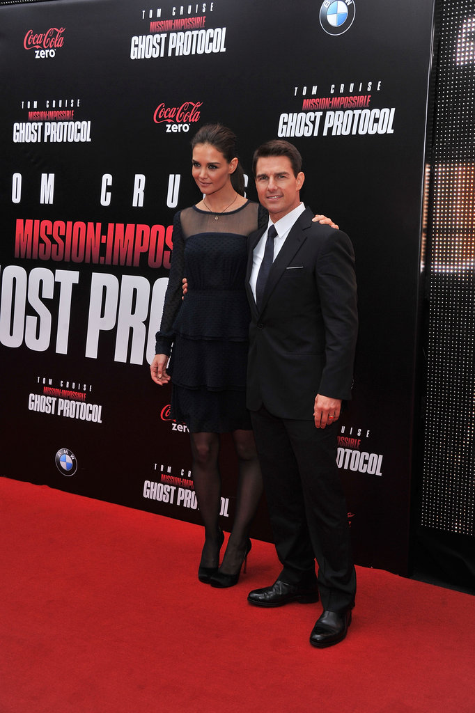 Tom Cruise with Katie Holmes at the MI4 premiere in NYC.
