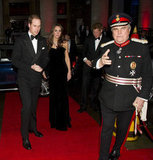 Prince William and Prince Harry put on their tuxes for the Sun Military Awards at Imperial War Museum, while Kate Middleton donned a sleek black dress.