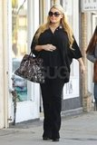 Jessica Simpson went shopping at a bridal boutique with a friend in LA.