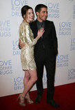 He and his Love and Other Drugs costar Anne Hathaway posed together in Sydney, Australia in December 2010.