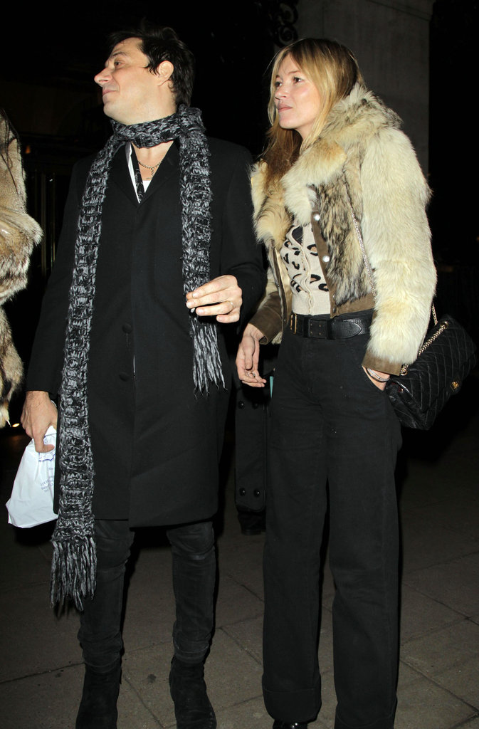 Kate Moss and Jamie Hince had dinner out in London.