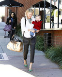 On Friday, Ali Larter and baby Theodore kicked off the weekend running errands in LA.
