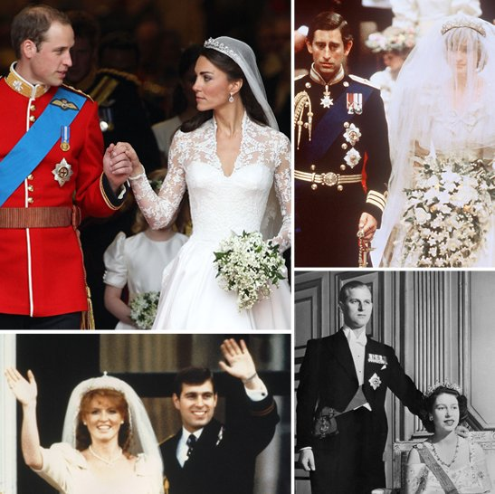 How Will and Kate's Wedding Compared to Past Royal Weddings
