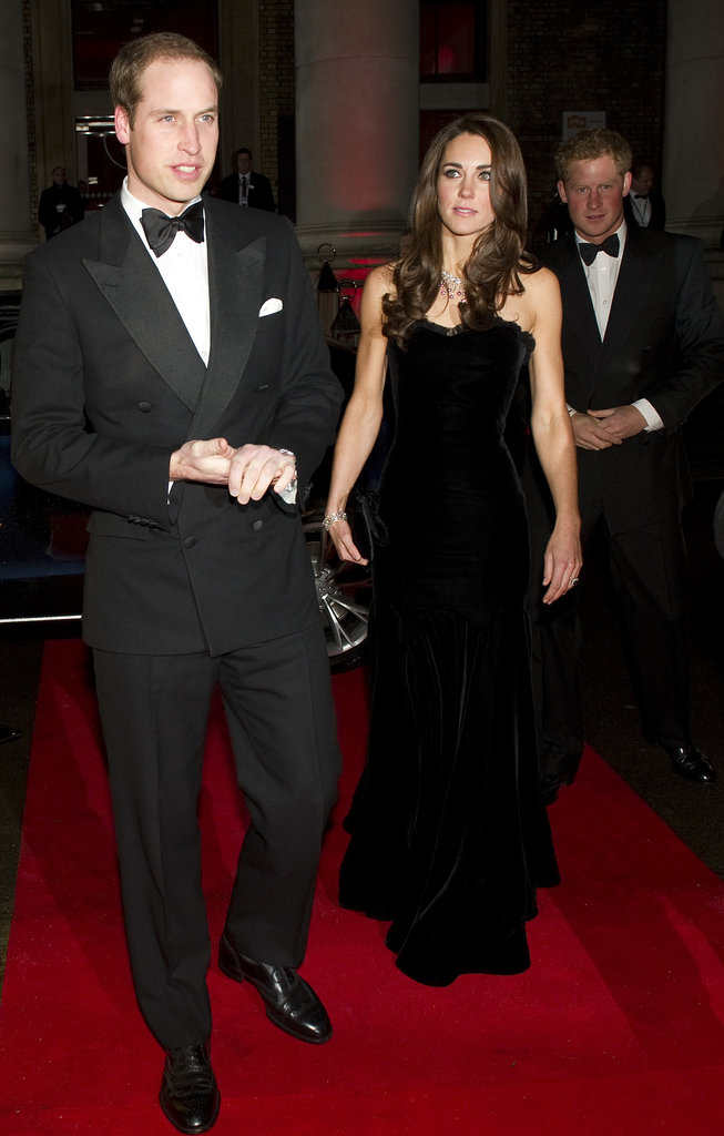 Kate Middleton wore a black Alexander McQueen gown this evening for The Sun's Military Awards.