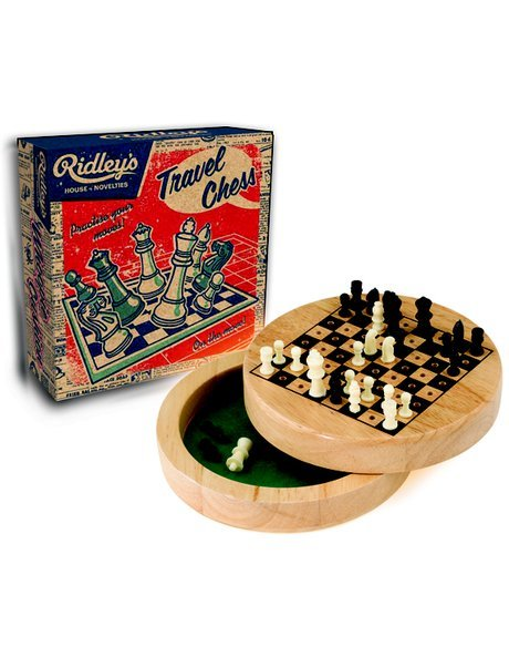 Ridleys Wooden Travel Chess, $19.95