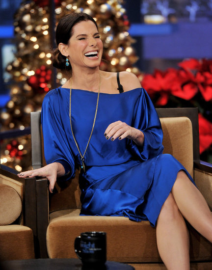 Sandra Bullock had a serious case of the giggles.