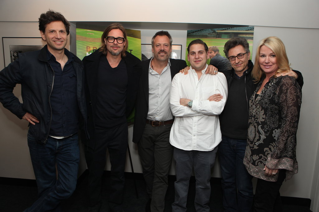 Bennett Miller, Brad Pitt, Wally Pfister, Jonah Hill, Christopher Tellefsen, and Deb Adair attended a film screening at Sony Pictures Studios.