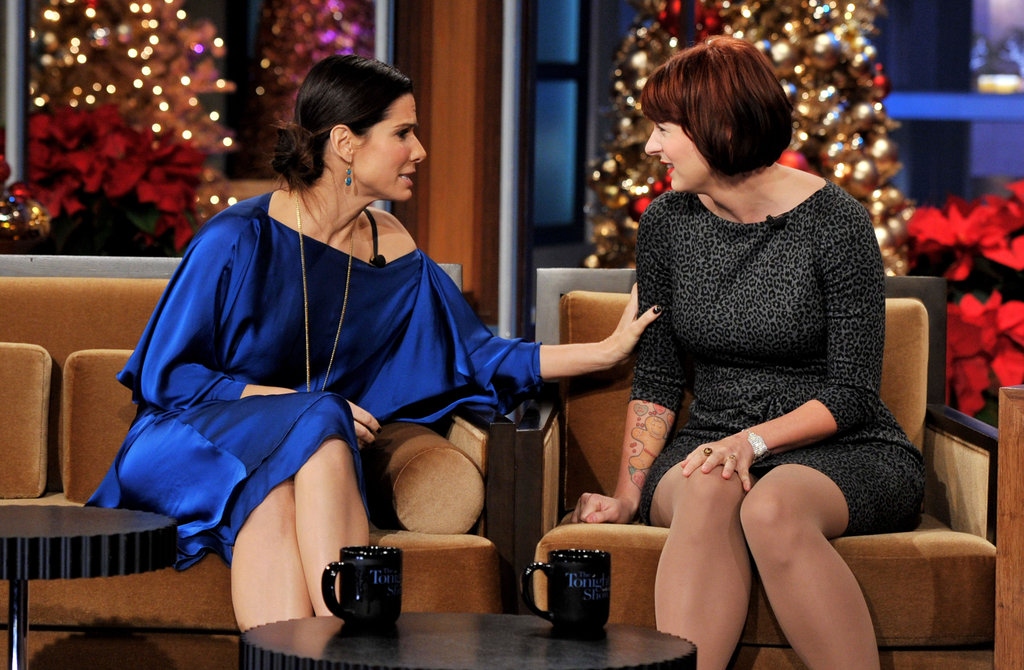 Sandra Bullock and Diablo Cody got friendly together on The Tonight Show with Jay Leno.