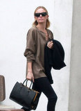 Kate Bosworth carried a Prada purse to a meeting in LA.