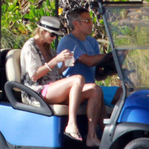 George Clooney Stacy Keibler Cabo Vacation Pictures