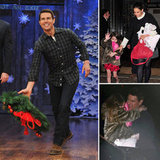 Tom Cruise Throws Wreaths With Fallon Then Links Up With Katie and Suri