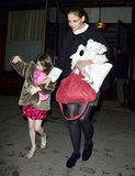 Katie Holmes held onto Suri in NYC.