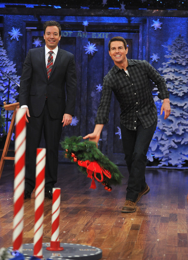 Tom Cruise and Jimmy Fallon played a game on Jimmy's late-night show.