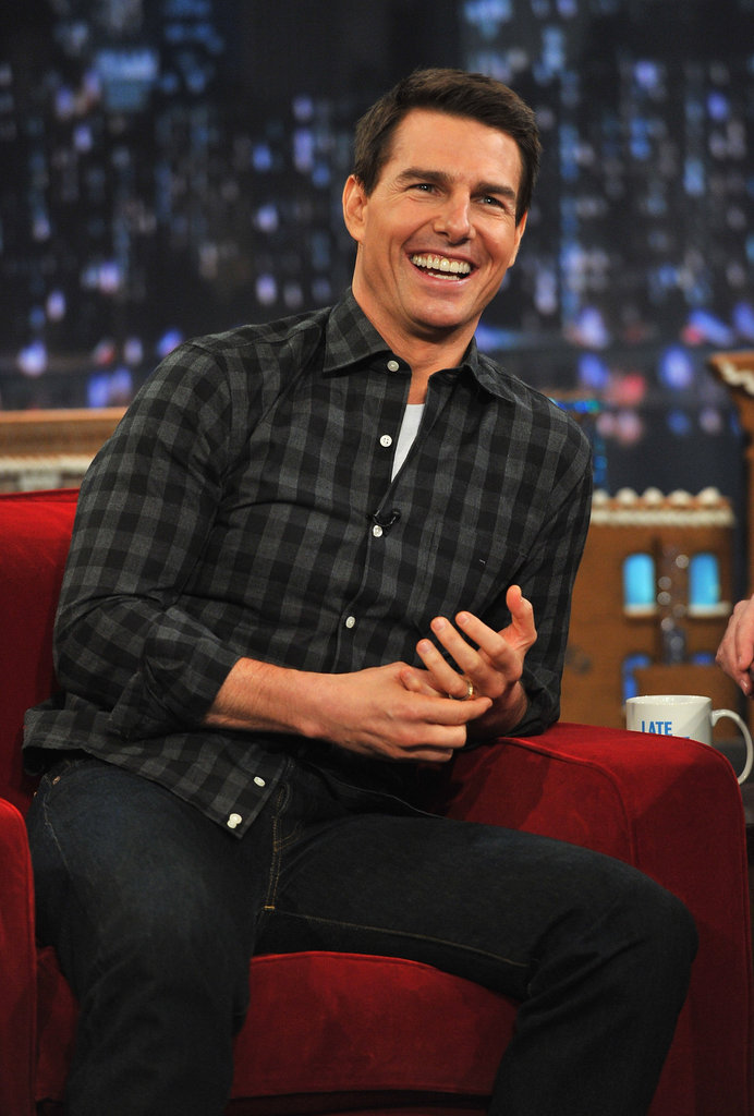 Tom Cruise laughed out loud on Late Night With Jimmy Fallon.