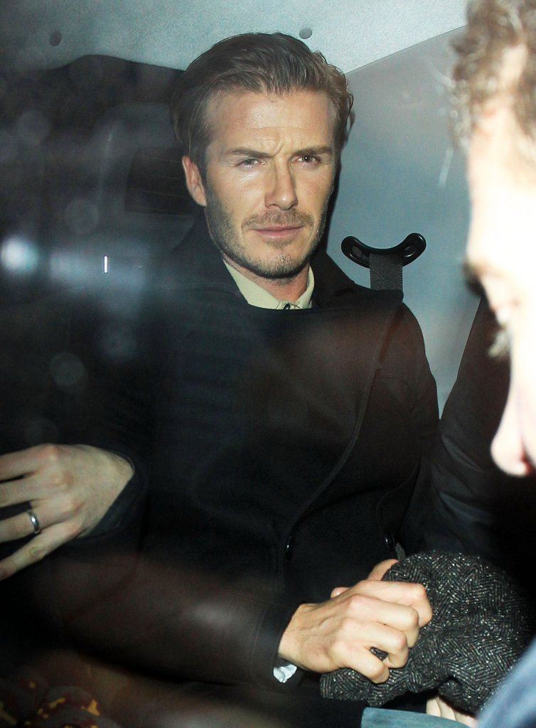 David Beckham left The Arts Club in London.