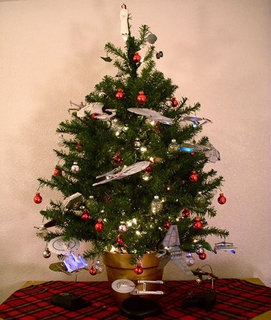 Star Trek and Star Wars Christmas Tree