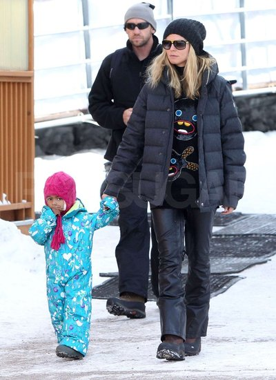 Heidi Klum, Seal, and Family Hit the Slopes in Aspen