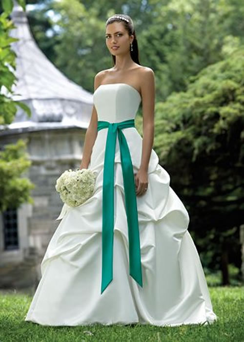 Merveilleux ... White And Green Wedding Dresses ...