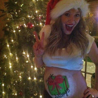 Hilary Duff Pregnant Belly Art