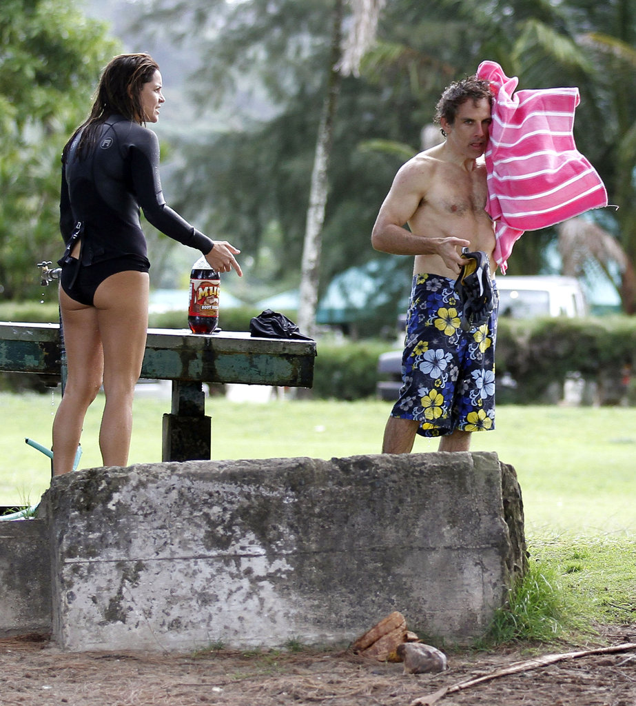 Ben Stiller was shirtless in Kauai.