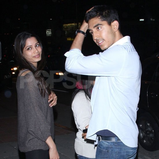 Dev Patel and Freida Pinto enjoyed each other's company in LA.