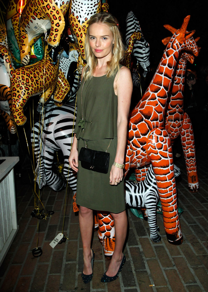 Kate Bosworth was in head-to-toe Mulberry at the brand's dinner party at Chateau Marmont in LA in December 2011.