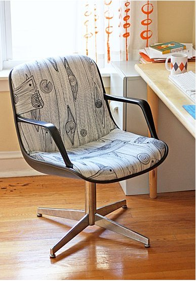 Get inspired to start your own chair reupholstery project with How About Orange's steelcase chair upholstery tips. Source: How About Orange