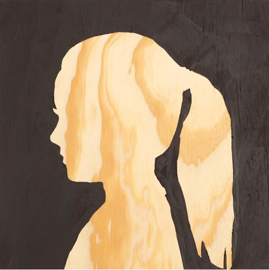 I love this twist on classic silhouette art: use plywood for the canvas. Source: Apartment Therapy