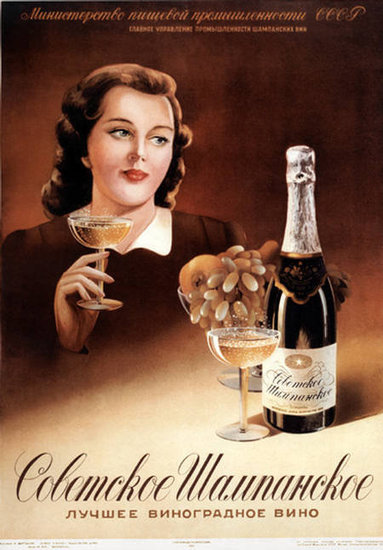 Champagne is classed up in this simple ad.