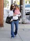Seraphina Affleck cuddled close to Jennifer Garner.