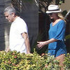 George Clooney, Stacy Keibler, Cindy Crawford Cabo Pictures