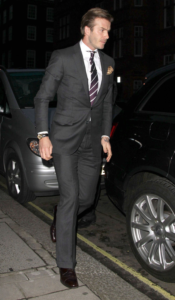 David Beckham hit the pavement in London.