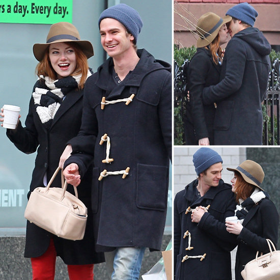 Andrew Garfield Goes in For a Kiss With Emma Stone