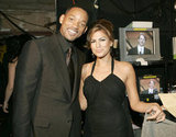 Will Smith and Eva Mendes posed together backstage during the 2005 show.