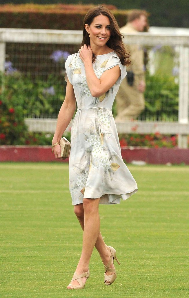 Kate sported yet another Jenny Packham floral dress for a Santa Barbara, CA, polo match.