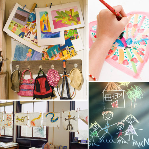 How to Organize Kids Artwork